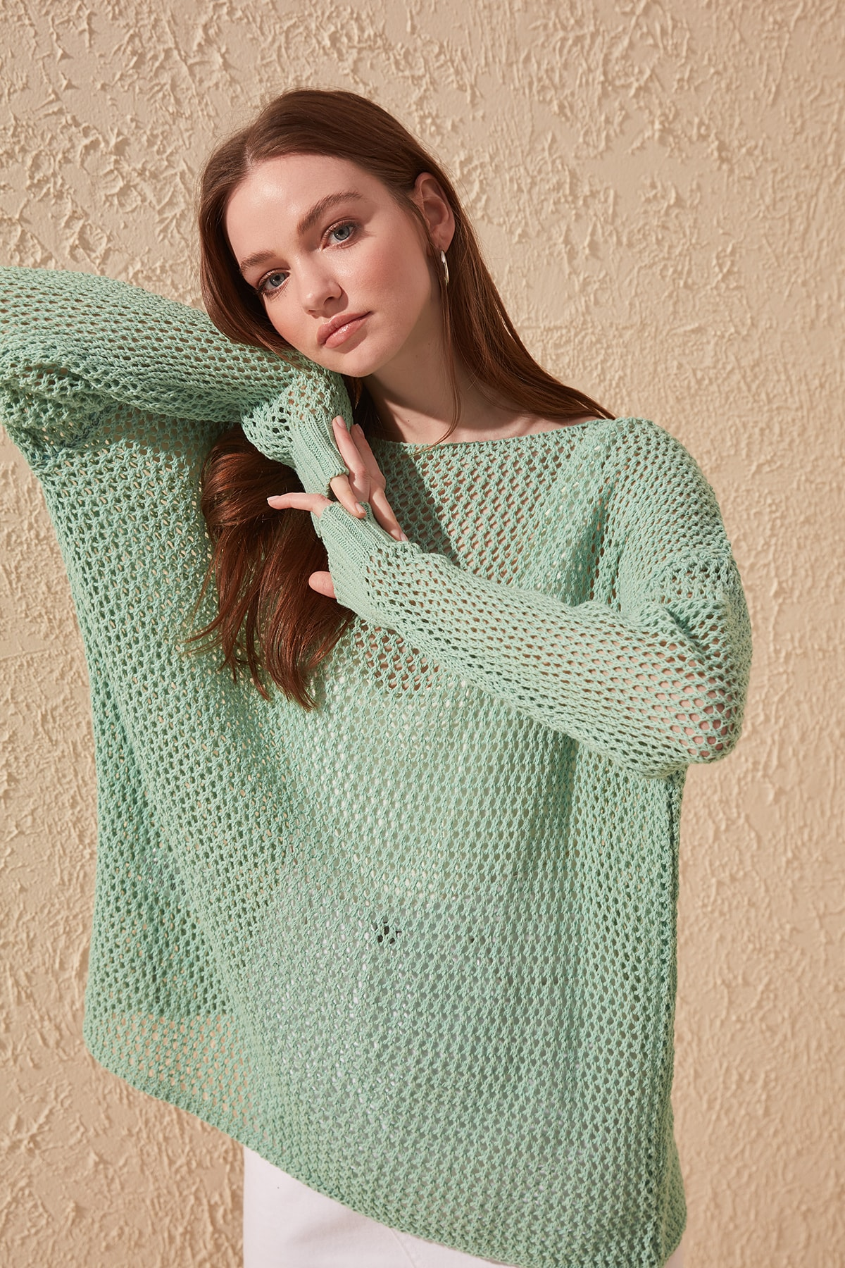 Trendyol Cellular Knitwear Sweater TWOAW20FV0184