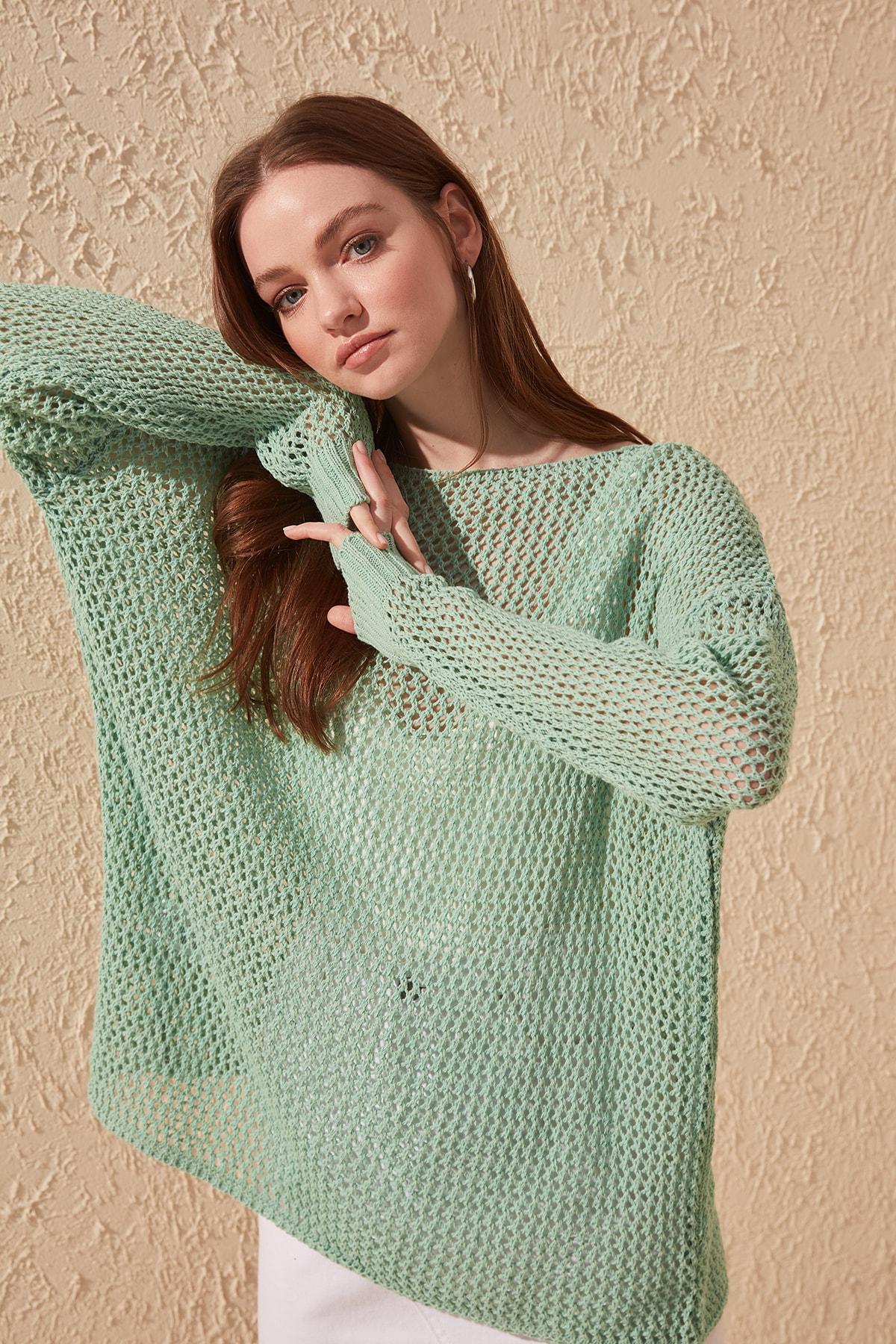 Trendyol Cellular Knitwear Sweater TWOAW20FV0184