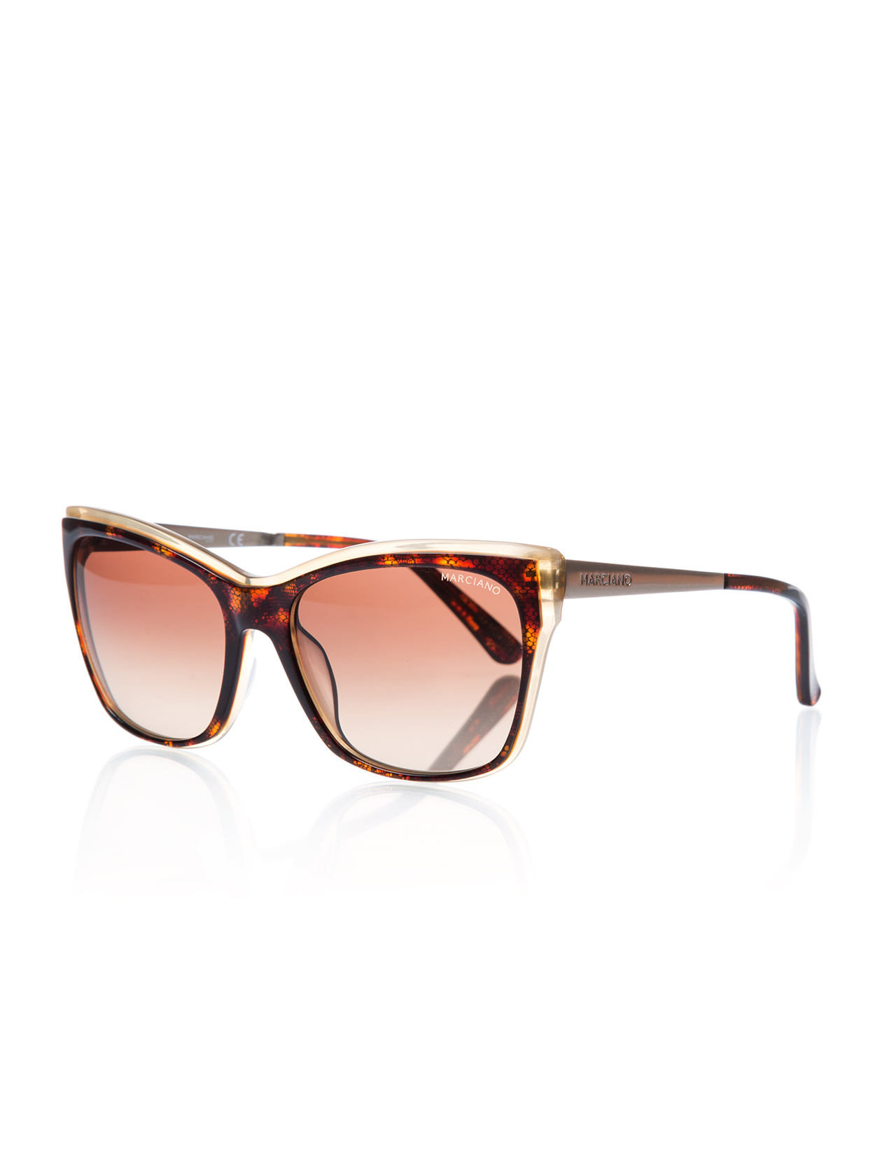 Women's sunglasses gu 0739 50f bone Brown organic 57-guess