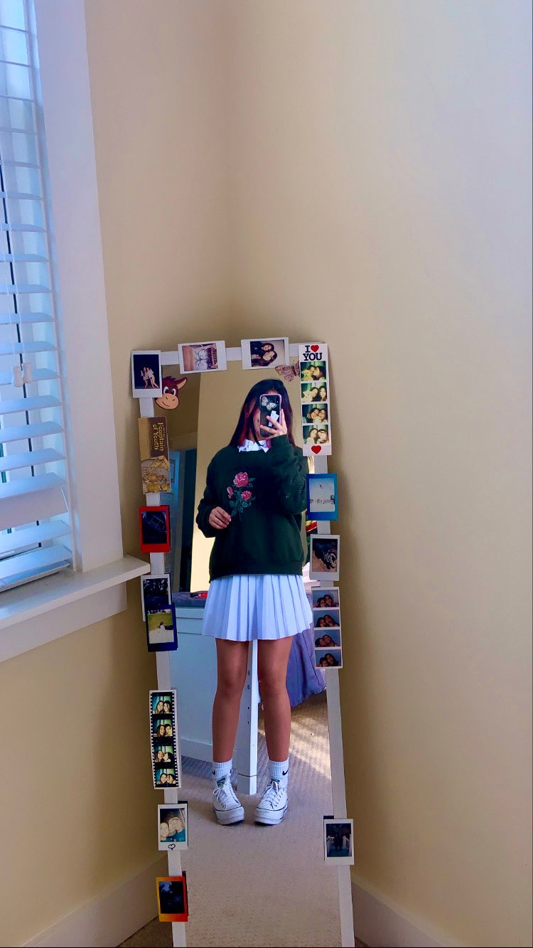 Pleated Mini Skirt with dragonfly E-girl Soft girl photo review