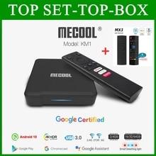 Mecool KM1 Google Certified Andriod 10.0 4G 64G Amlogic S905X3 ATV box tv Dual Wifi 4K Voice Andriod tv box smart box KM1