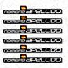 6X Bandiera Personalizzabile con Nome Del Respingente Del Vinile Mtb Casco Casco Mountain Bike Bicicletta Adesivo Nome E Il Nome di Famiglia-in Adesivi per biciclette da Sport e intrattenimento su