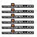 6X FLAGGE MIT ANPASSBARE NAME STOßSTANGE VINYL MTB HELM MOUNTAINBIKE FAHRRAD AUFKLEBER NAME UND FAMILIE NAME-in Fahrradaufkleber aus Sport und Unterhaltung bei