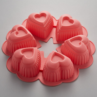 Shape 31 х17х4см bakeware 6 cupcake silicone hearts ak 6040s (household goods/accessories *)