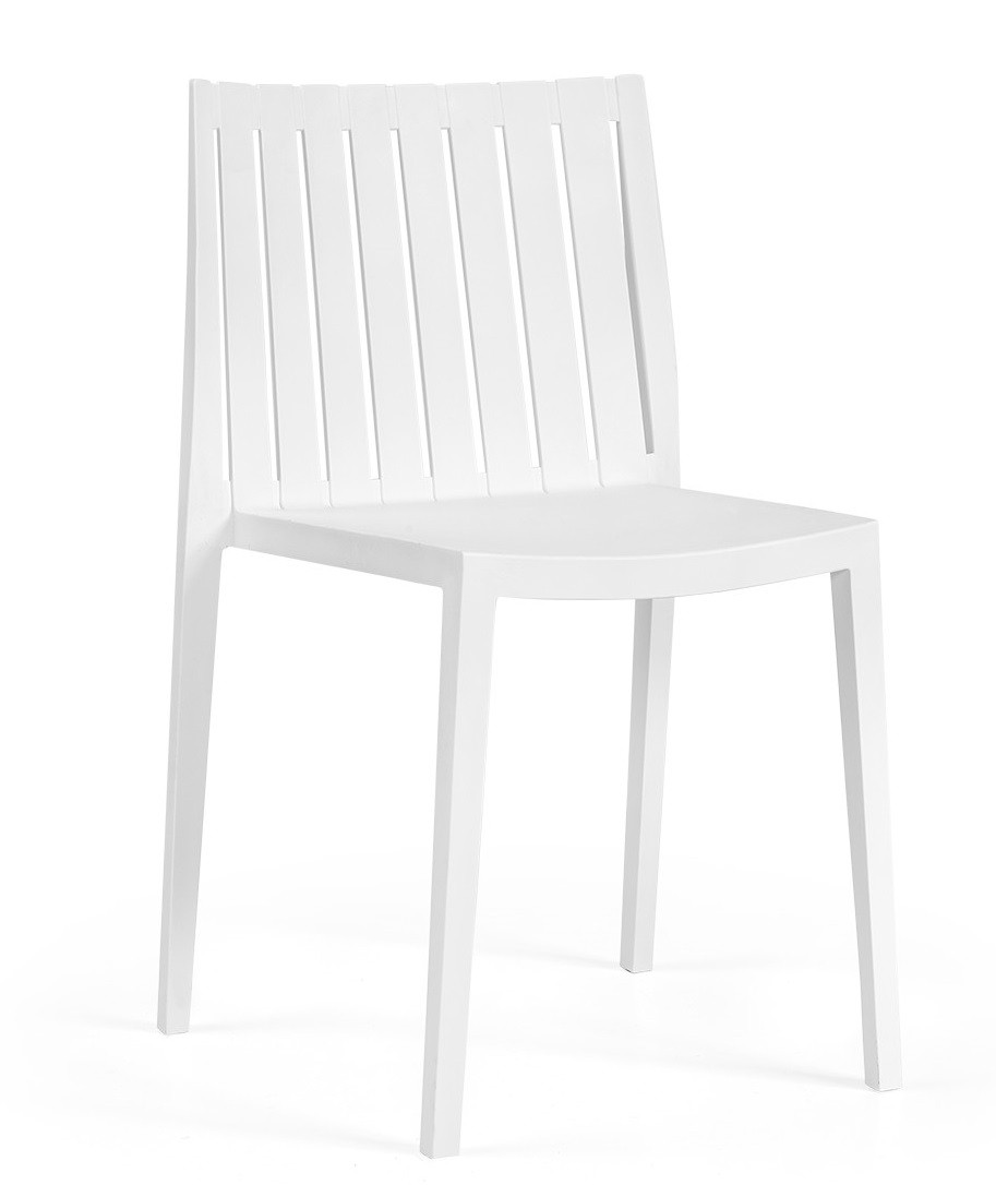 Chair CHOPIN Stackable White Polypropylene