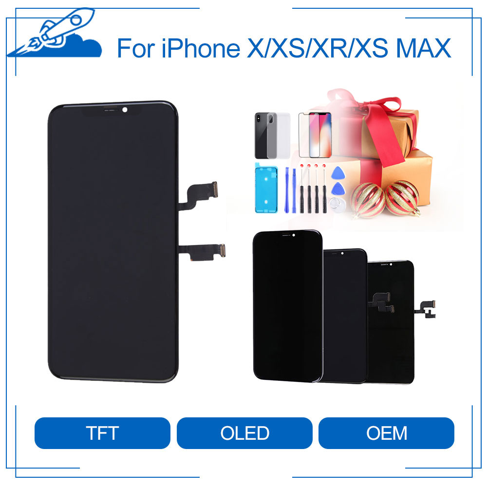 Elekworld Grade A+ TFT OLED OEM For IPhone Screen X XS XR XS Max LCD Display 3D Touch With Digitizer Replacement Assembly Parts