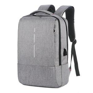 Рюкзаки для ноутбука 14 15,6 дюйма, модные школьные рюкзаки для мужчин, повседневная школьная сумка для мужчин и мальчиков с usb-зарядкой