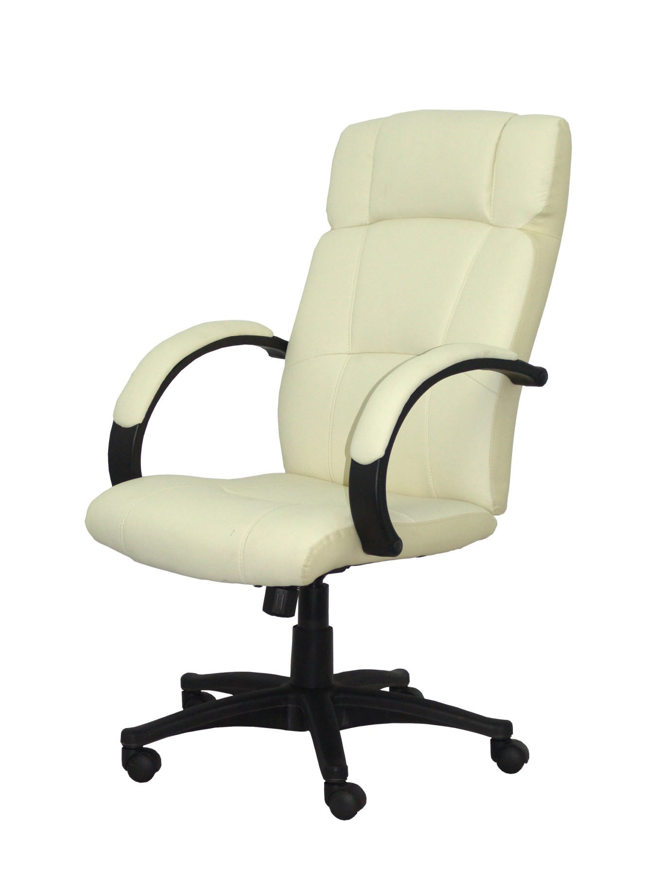 Armchair Ergonomic Steering With Tilting House Mechanism And Dimmable In High Altitude Upholstered In Similpiel Cream Color De P