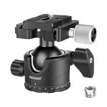 Neewer Professionelle 35MM Low-Profil Ball Kopf 360 Grad Drehbare Stativ Kopf + 1/4 zoll QR Platte Blase ebene für DSLR Kameras