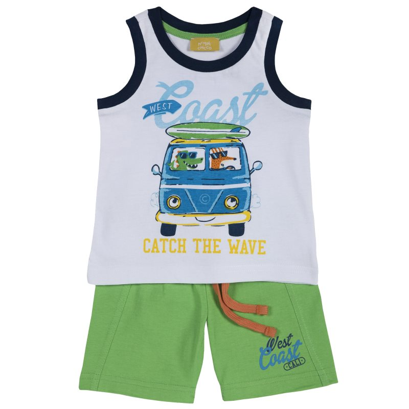 Set T shirt and shorts Chicco, size 086, color bus (multicolor)
