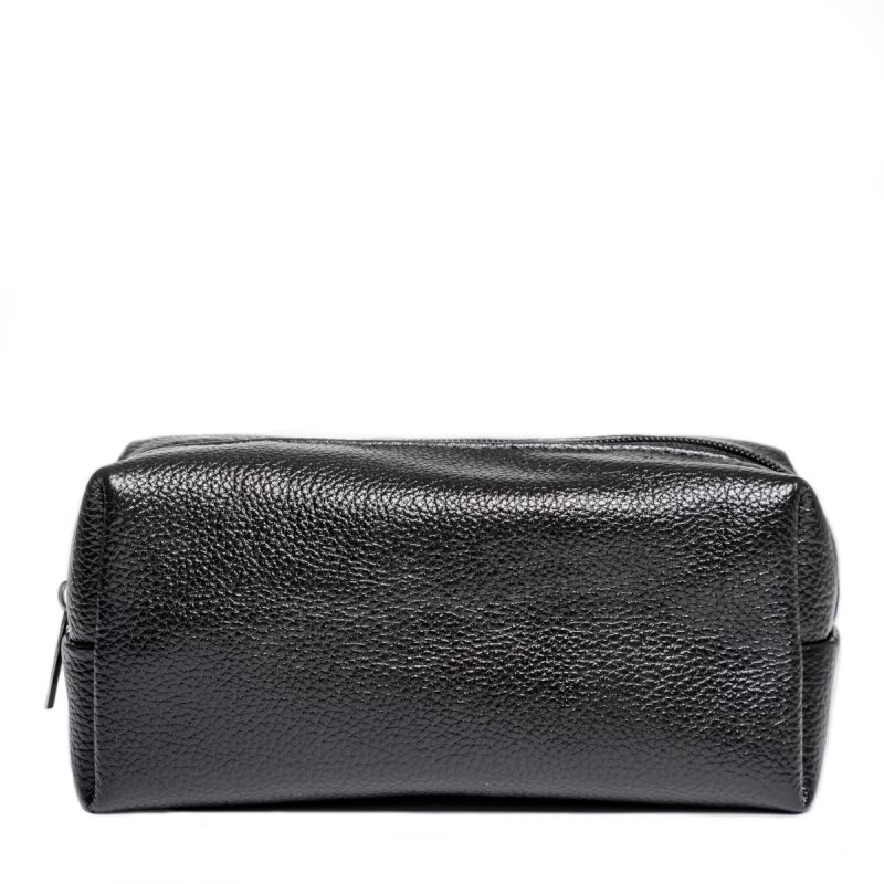 LAKESTONE leather cosmetic bag Kirkby Black for women