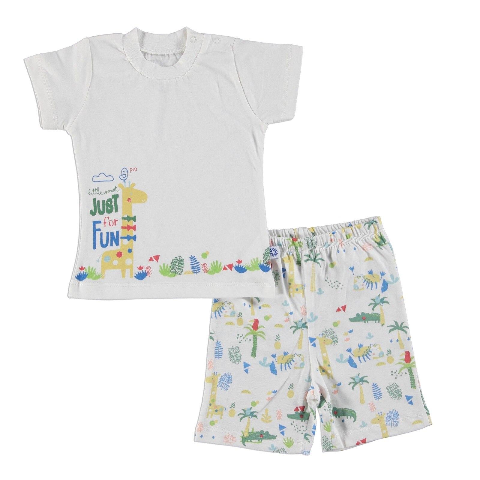 Ebebek Luggi Baby Boy Crocodile Tshirt Shorts Set