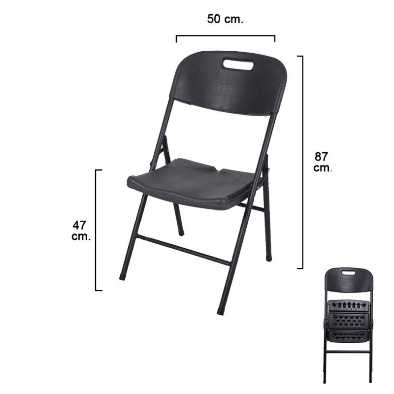 Folding Chair Anthracite Gray 47x50x87cm