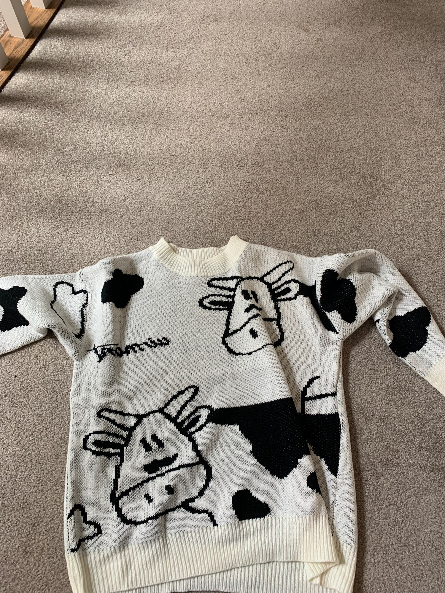 Egirl Harajuku pullover with a cow print photo review