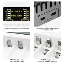 Indicador LED Ni-MH/ni-cd cargador de batería VOXLINK de 4 ranuras para batería recargable AAA/AA protección contra cortocircuitos