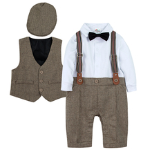 Romper Toddler Christening Clothing-Set Twill-Suit Newborn Tuxedo Formal-Outfits Party