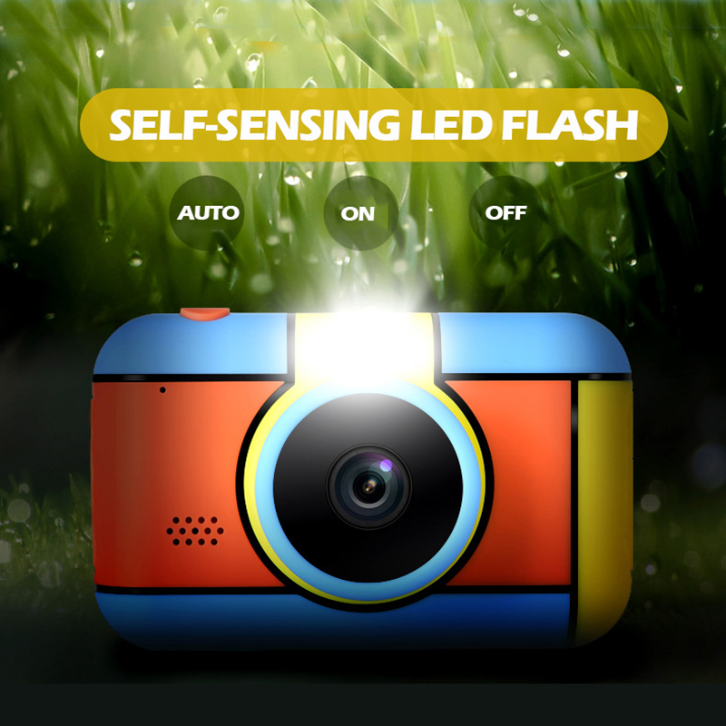Children Mini Camera 2.4 Inch Ful HD Screen Dual Lens Digital Camera Toy Holiday Photo Video Christmas Gift Camera Toy