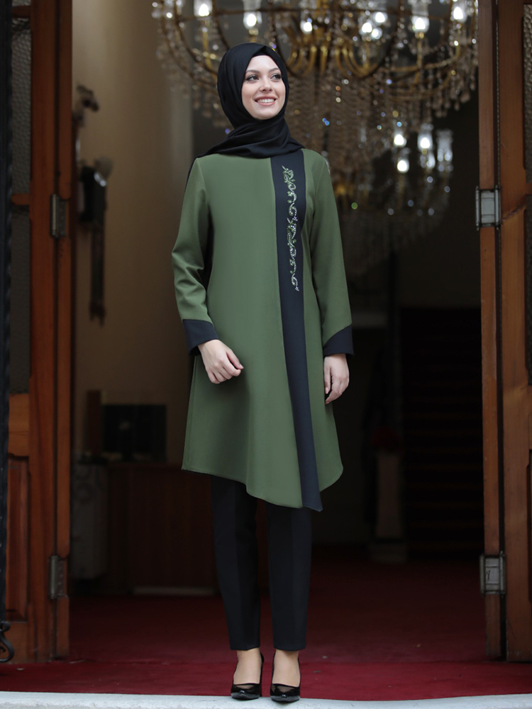 Women Tunic Trousers Double Suit Hijab Combination New Season Islamic Muslim Clothing Quality Fabric Made in Turkey Authentic