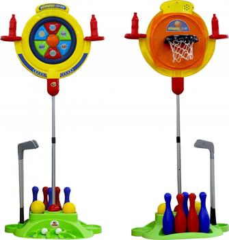 """Toy Sports COLOMA Y PASTOR  Мультиигровой center \""""Target\"""""""" 4x1 (package) for kids games for boys and girls for children sports toys"""""""