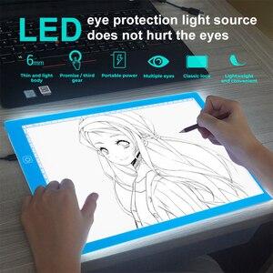 Мини A3 ультратонкий светодиодный цифровой графический коврик для рисования, USB светодиодный световой Коврик для печати, Электронная художе...