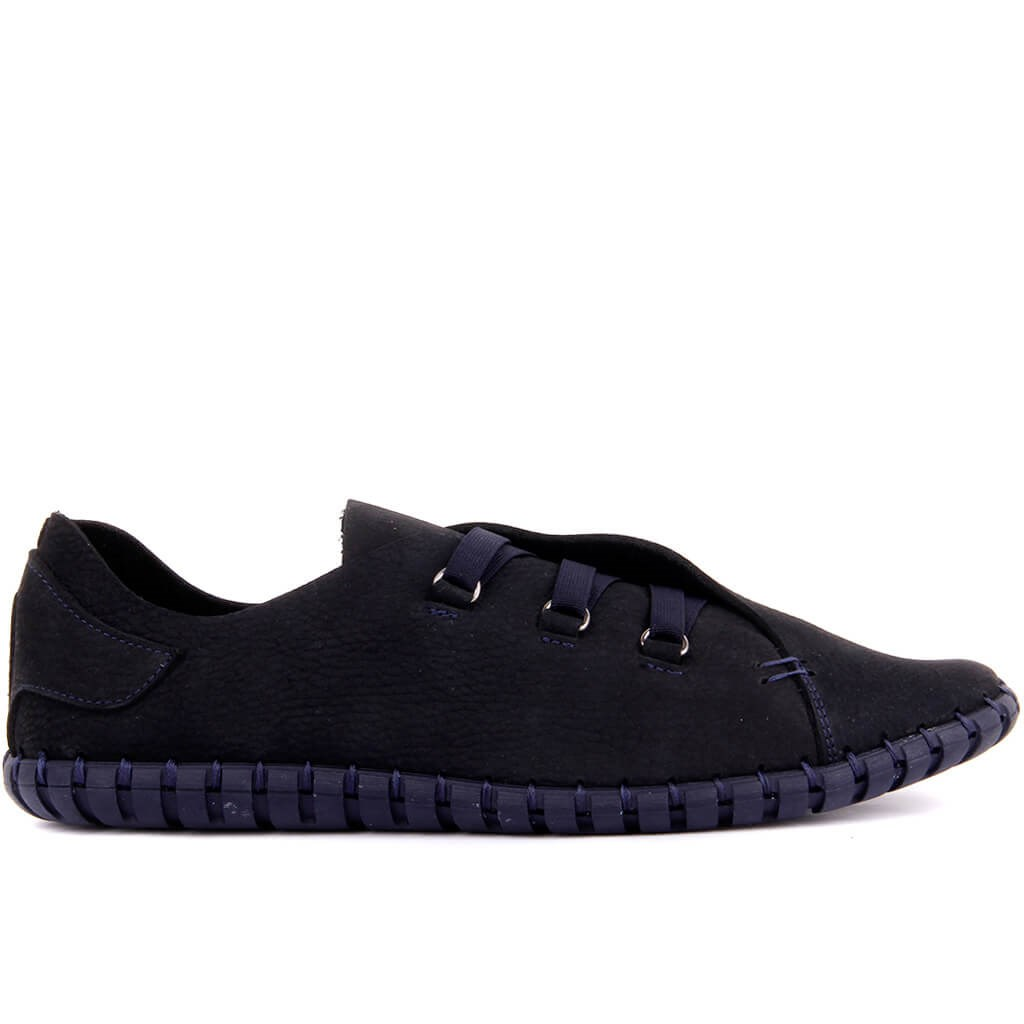 Sail Lakers-Navy Blue Nubuck Men Casual Shoes