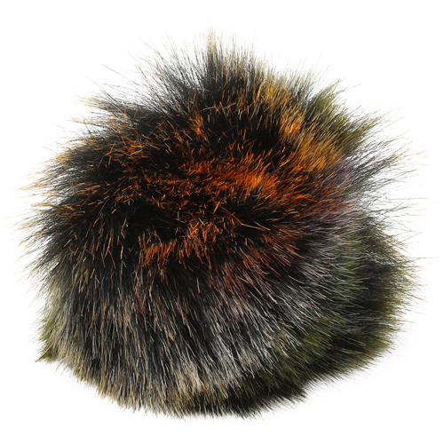 5as-269 Pompom Made Of Artificial Fur 12 Cm (5 Green Multicolor)