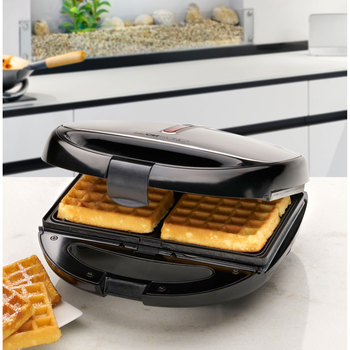 Clatronic ST 3670 Sandwich interchangeable plates, Sandwich toaster, waffle iron Belgian Waffle, Grill Iron machine meat fish 2