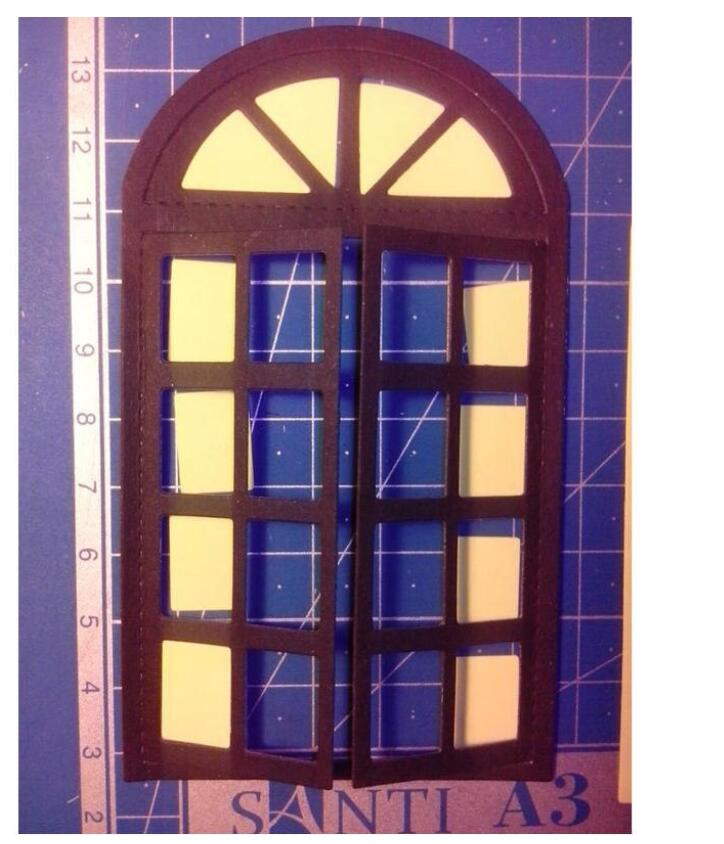 Window Frame Cutting Dies Stencils for Scrapbooking Paper Cards Album Mby H @l
