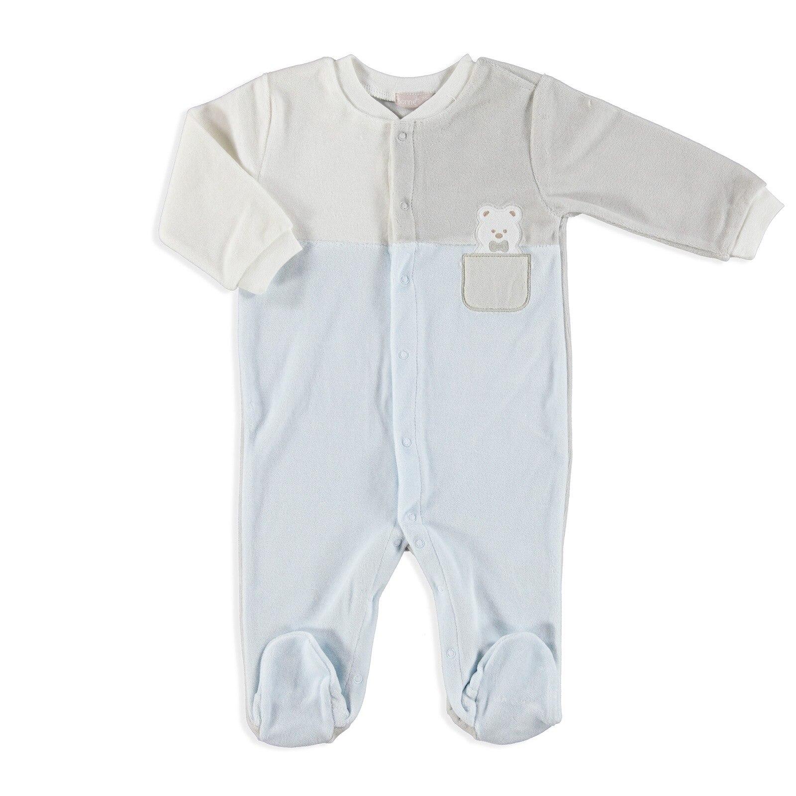 Ebebek BONNE Teddy Bear Embroidered Baby Romper