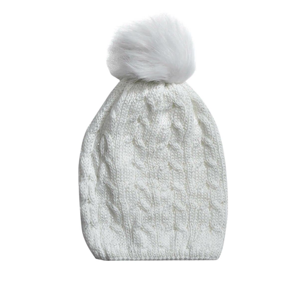 FLO POMPON BEANIE-W Ecru Women 'S Hat Miss F
