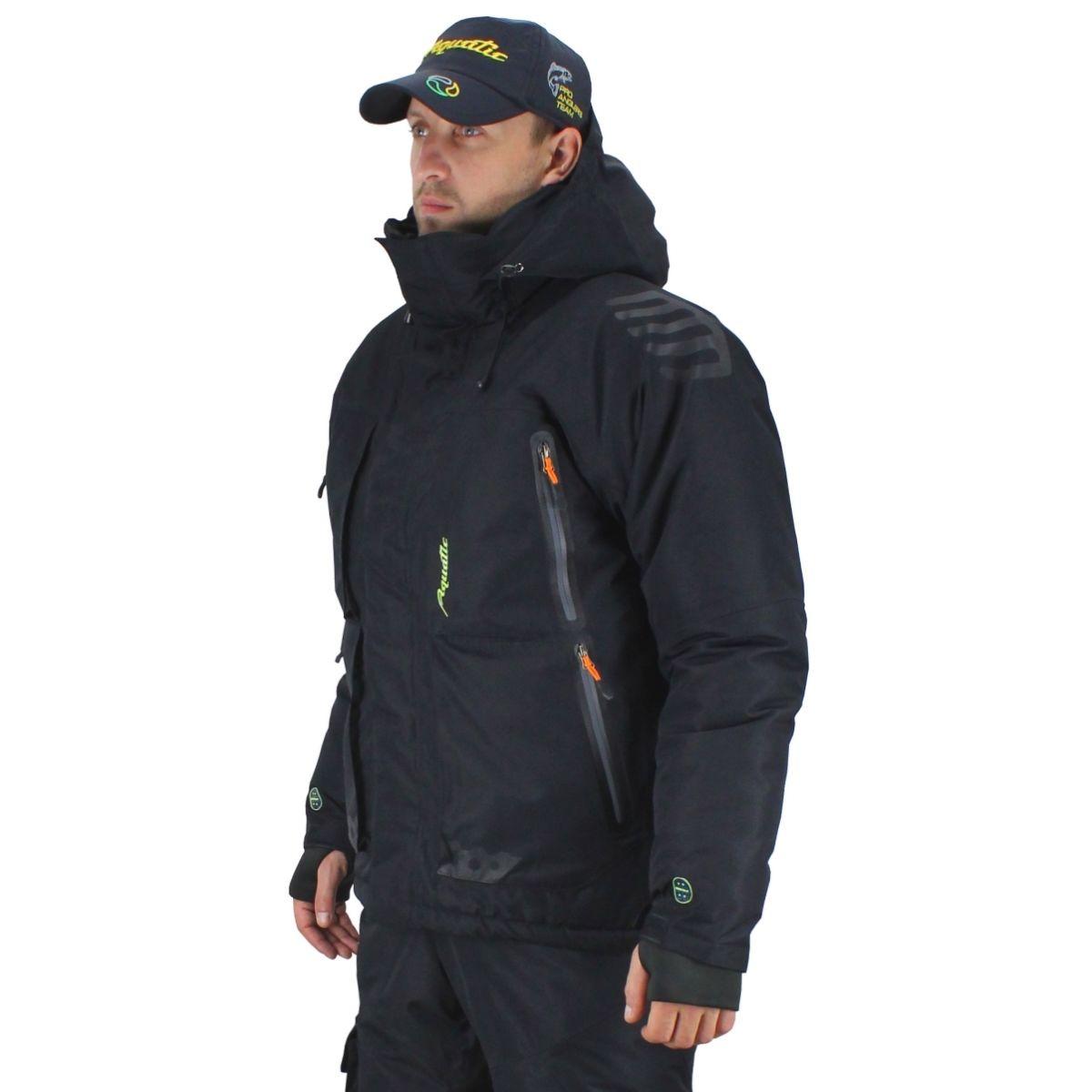 Winter Jacket Aquatic кк-14ч, Black кк-14ч 48-50