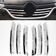 6 шт, хромированные декоративные накладки на решетку радиатора переднего бампера из нержавеющей стали для Renault Arkana Рено Аркана 2019 2020 2021 года ...