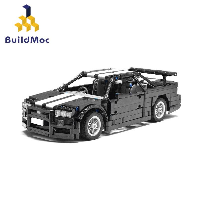 BuildMoc Skyline R34 Endurance Sports Car Building Block Technic Racing Car 23809 MOC Model Bricks Toys For Boys