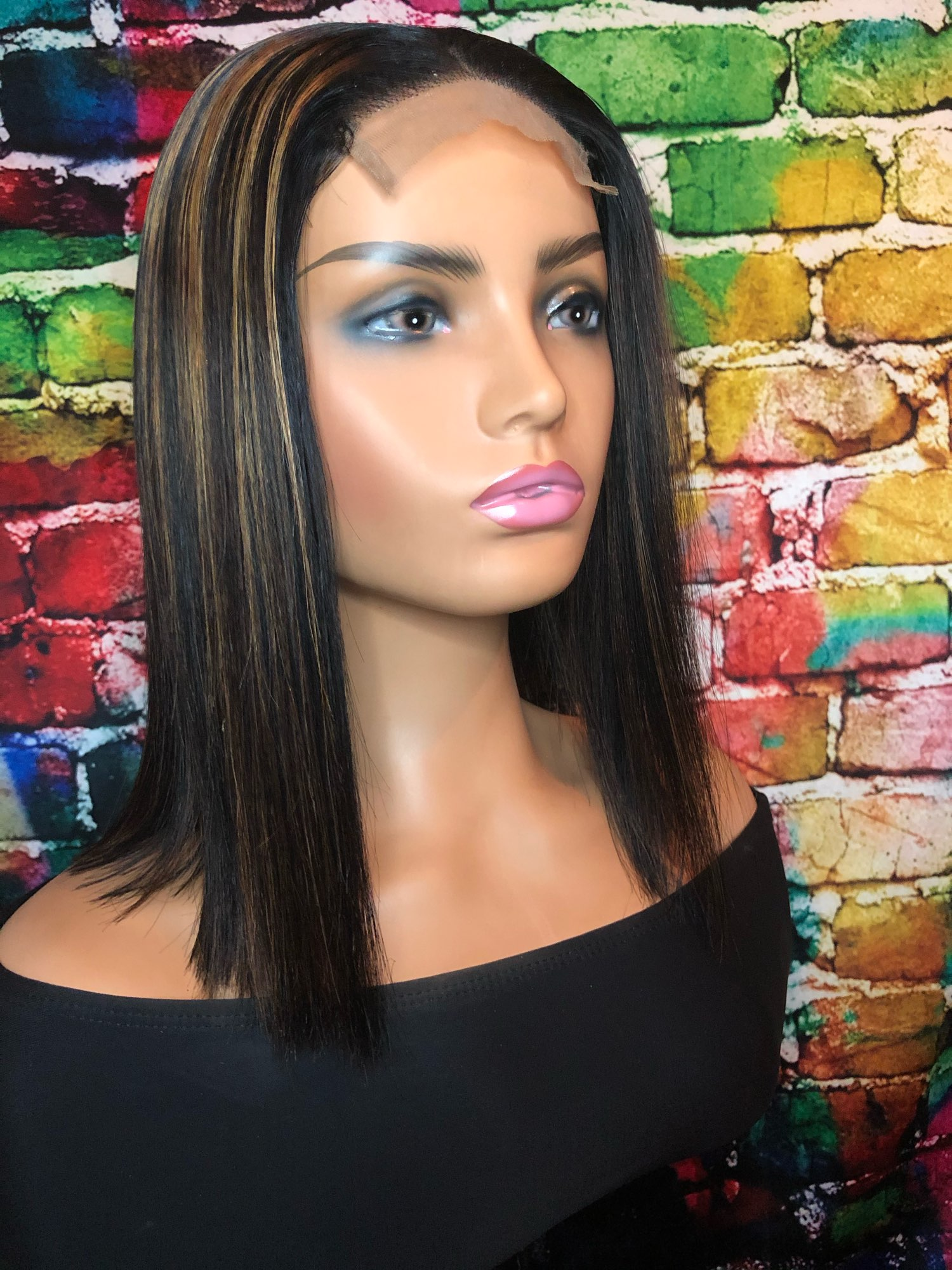 Short Bob Wigs Straight Lace Front Human Hair Wigs photo review