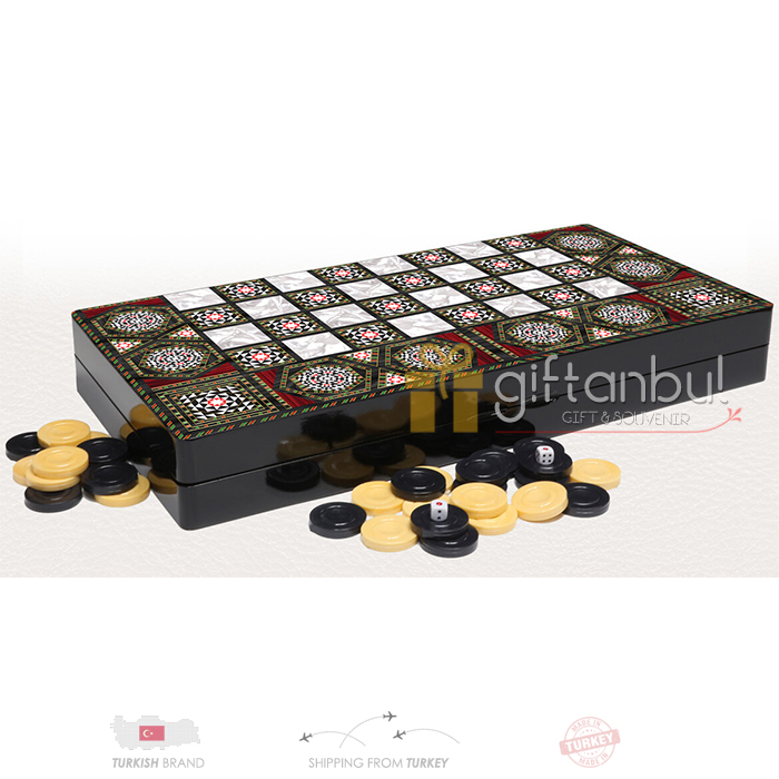 Mother Of Pearl Backgammon Set Eco Trendy Wooden Backgammon Set Checkers  Family Board Games Backgammon Sets The Best Quality
