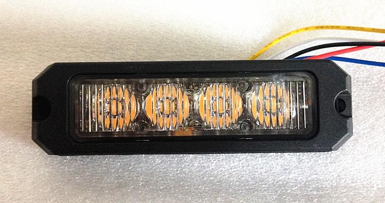 Luz de advertência do estroboscópio da polícia do diodo emissor de luz da alta intensidade 4*3 w para o carro