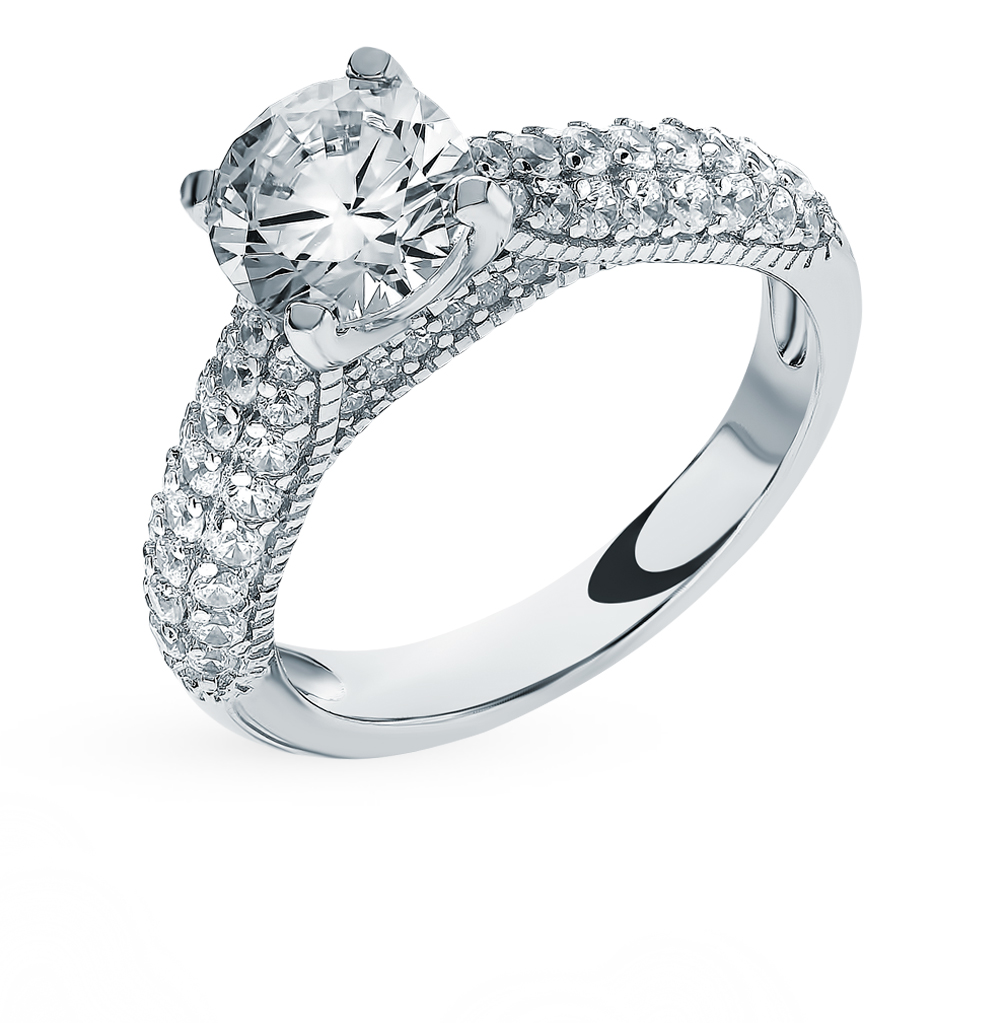 Silver Ring With Cubic Zirconia SUNLIGHT Test 925
