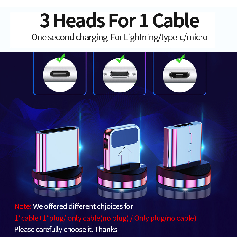 Udyr 2m Magnetic Micro USB Cable For iPhone Samsung Android Mobile Phone Fast Charging USB Type