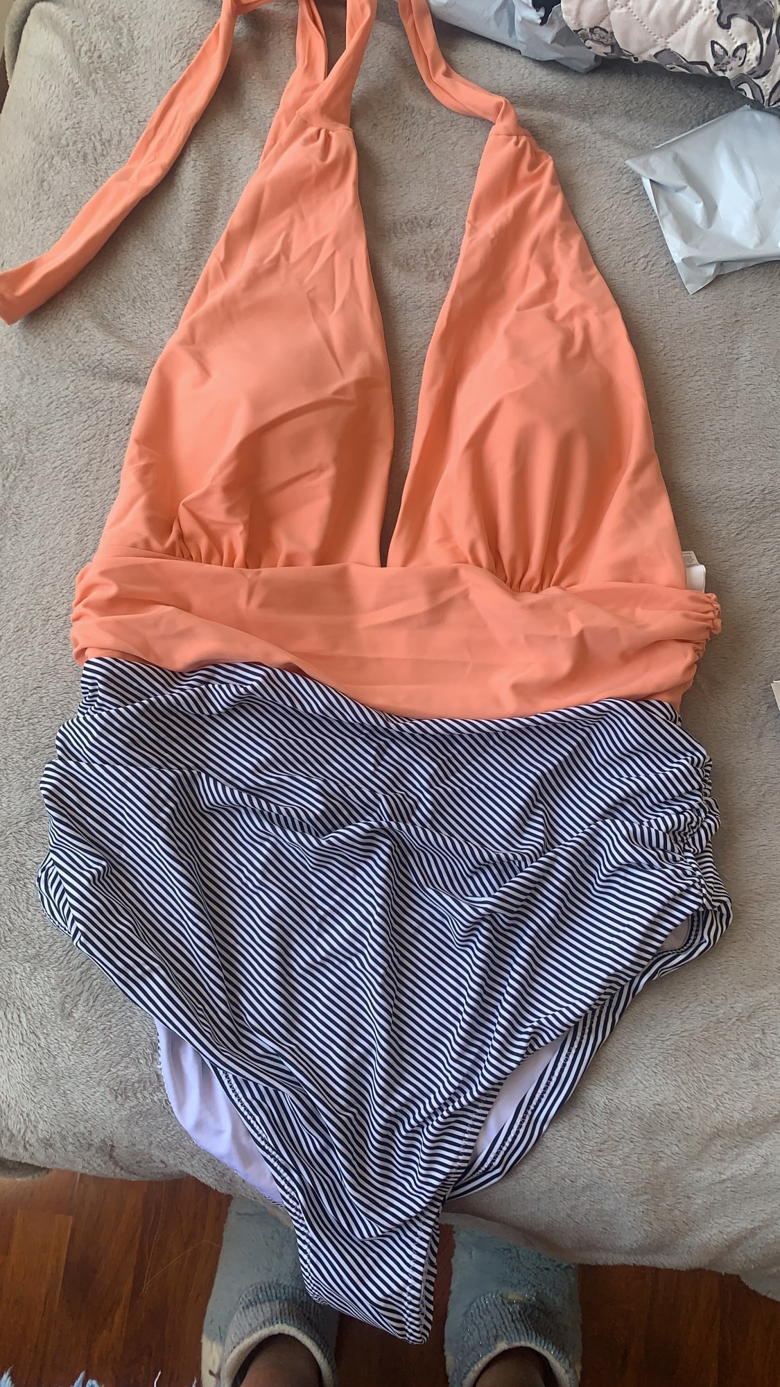 SEASELFIE Sexy Pink and Stripe Halter Deep V neck One Piece Swimsuit Women Padded Monokini 2021 Beach Bathing Suit Swimwear|Body Suits|   - AliExpress
