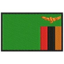 Bandera ZAMBIA para mascarilla parche bordado Iron patch toppa ricamata gestickter patch patch brode