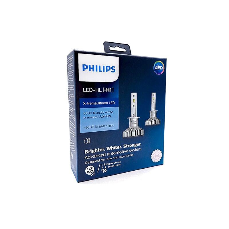PHILIPS 11258XUX2 H1 12V-LED (P14... 5S) 6000K 25W X-Treme Ultinon LED aire fresco (K paquete 2 piezas) 62962