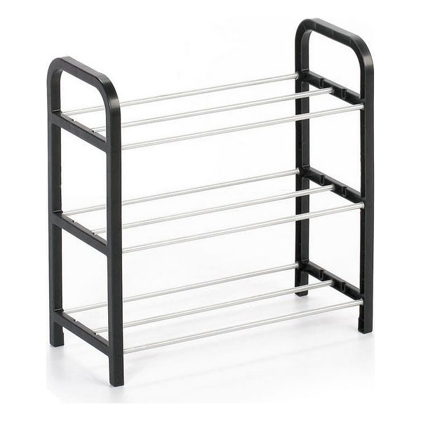Shoe Rack Confortime 3 Shelves Black (40 X 19 X 42 Cm)