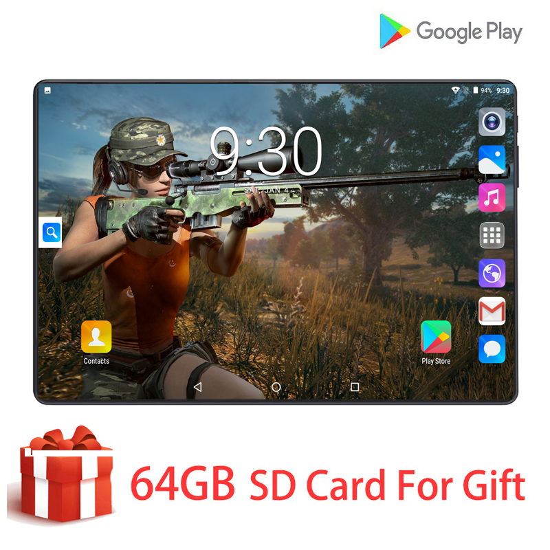 6G+128G New Original 10 Inch Tablet Pc Octa-Core 4G Phone Call Google Market GPS WiFi FM 10.1 Super Tablets Android 9.0 Pad