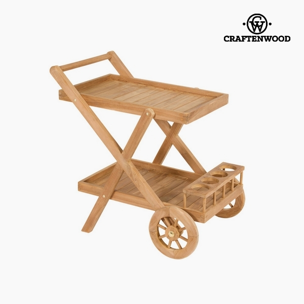 Serving Trolley Teak (55 X 85 X 83 Cm) By Craftenwood