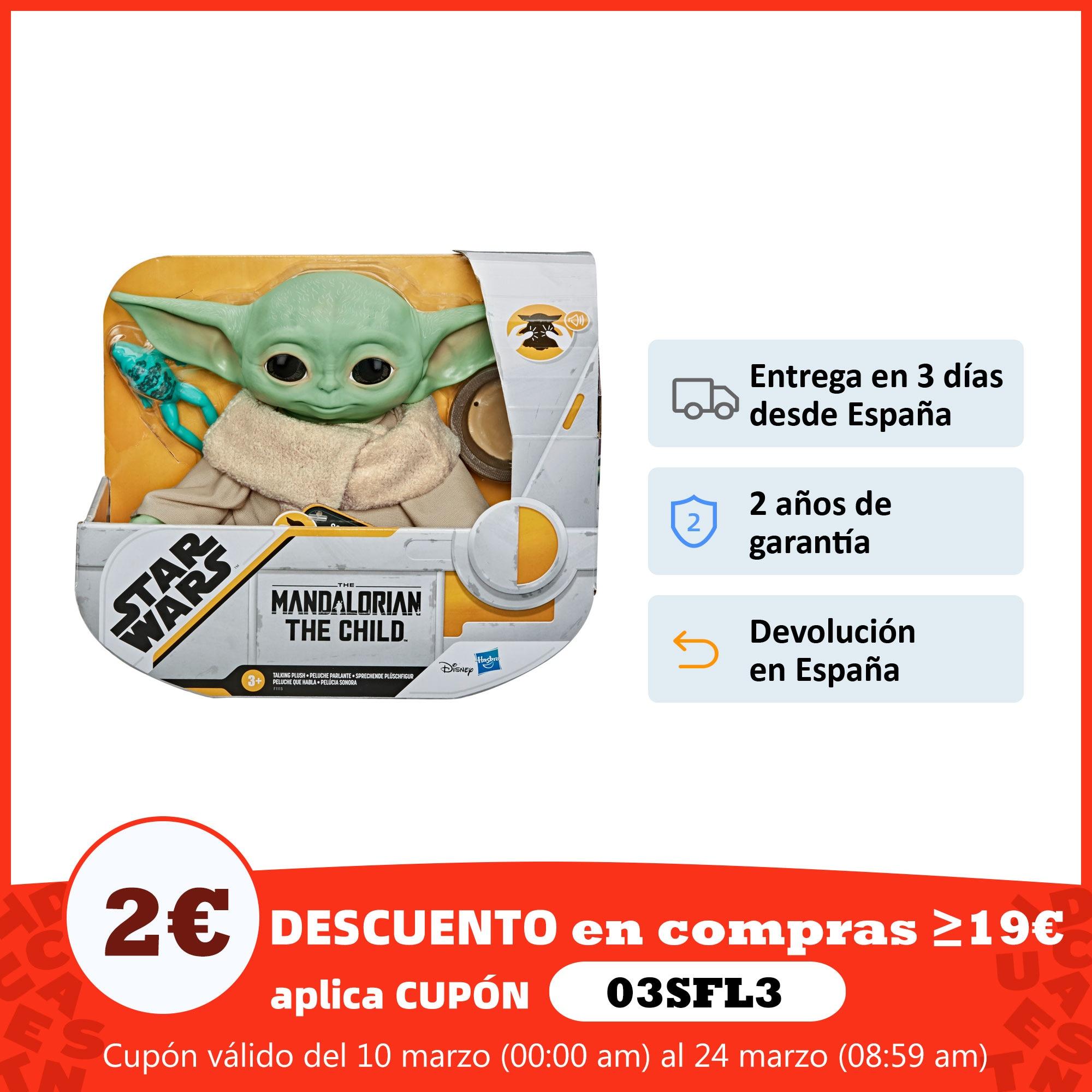Hasbro Original Peluche Baby Yoda Figura Star Wars The Mandalorian 3 AÑOS+ Envío Gratis F11155L0 Figuras de acción  - AliExpress