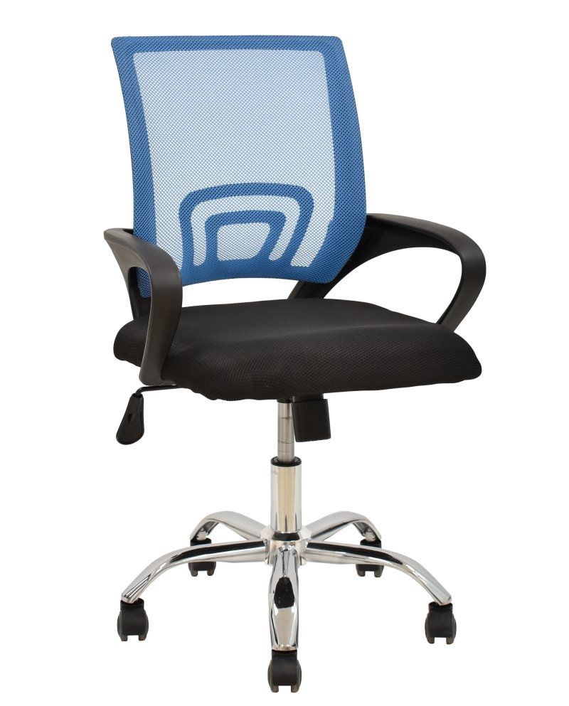 Office Armchair FISS NEW, Black, Gas, Tilt, Blue Mesh Fabric Black
