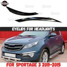 Augenlider für scheinwerfer für Kia Sportage 3 2011 2015 ABS kunststoff pads zilien augenbrauen abdeckungen trim zubehör auto styling tuning