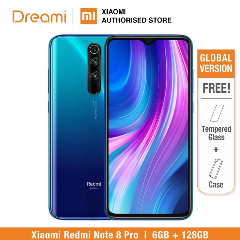 <font><b>Global</b></font> <font><b>Version</b></font> <font><b>Xiaomi</b></font> <font><b>Redmi</b></font> <font><b>Note</b></font> <font><b>8</b></font> <font><b>PRO</b></font> <font><b>128GB</b></font> ROM <font><b>6GB</b></font> RAM (LATEST ARRIVAL!!), note8 <font><b>pro</b></font> Smartphone Mobile image