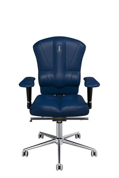 Office Chair KULIK SYSTEM VICTORY Blue Computer Chair Relief And Comfort For The Back 5 Zones Control Spine