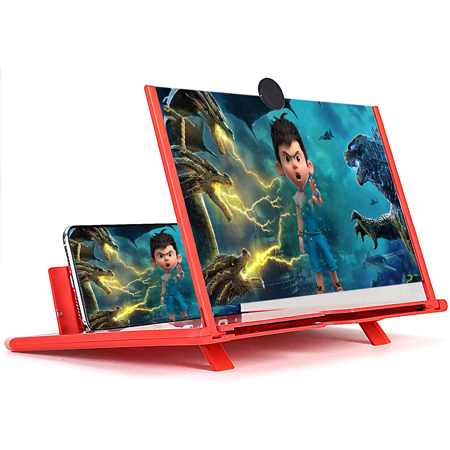 New Fashion 3D Screen Amplifier Mobile Phone Magnifying Glass HD Stand For Video Folding Screen Enlarged Eyes Protection Holder